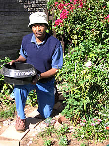 Meet Khululekile Tyam, The South African Gardener Who Inspired The Name  U201cdammetjiesu201d Used For The Garden Water Saving Device Invented By Geoff Bird.